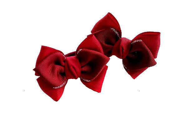 Бантик для девочек Нарспи бордовый