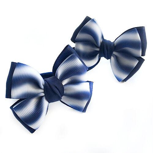 Бантик для волос Малышка волна синия