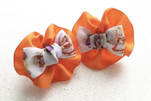 Детский бантик Анетт оранжевая