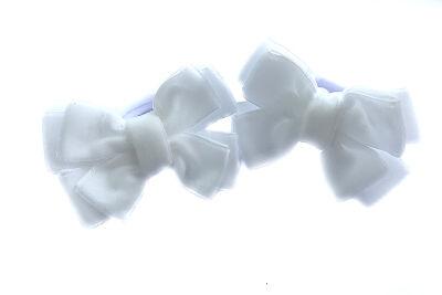 Бантик из бархата белый