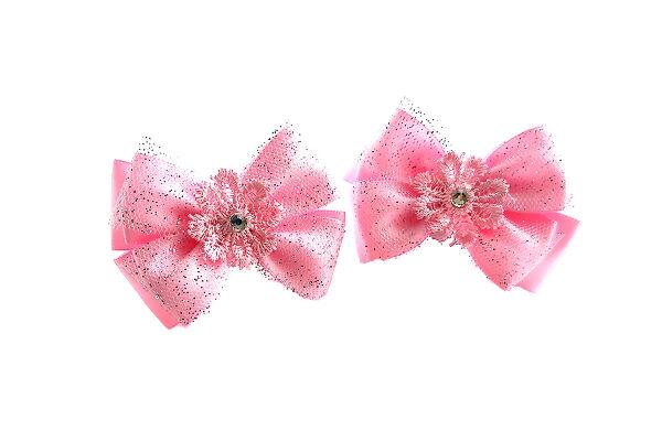 Бантик Льдинка розовый