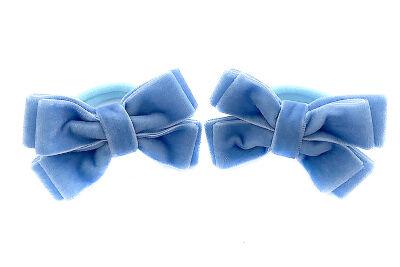 Бантик из бархата голубой