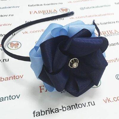 Ободок для волос Корсика темно-синий