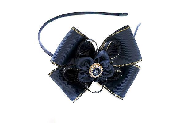 Ободок для волос Алиса синий