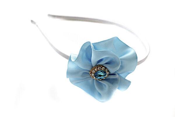 Ободок для волос Ариэль голубой