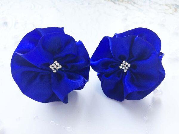 Бант для волос Вальс синий