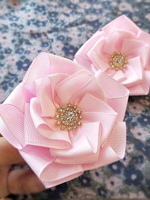 Бант для волос Сакура розовый