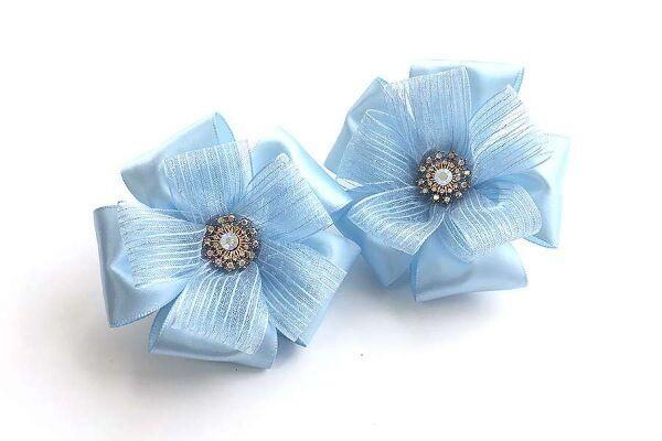 Красивый бант Афродита голубой