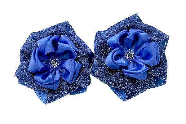 Бант Вдохновение синий с серебром