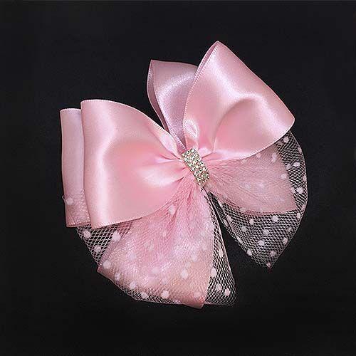Красивый бант с фатином Париж розовый