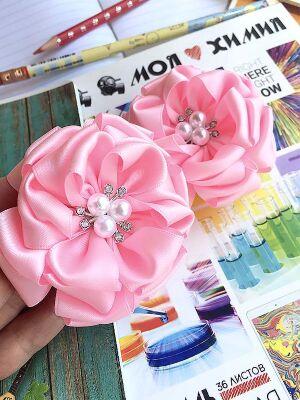 Бант для волос Варенька розовый