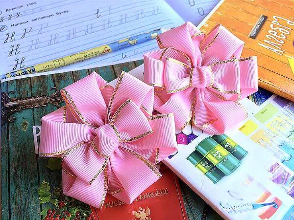 Бант для волос Марго розовый