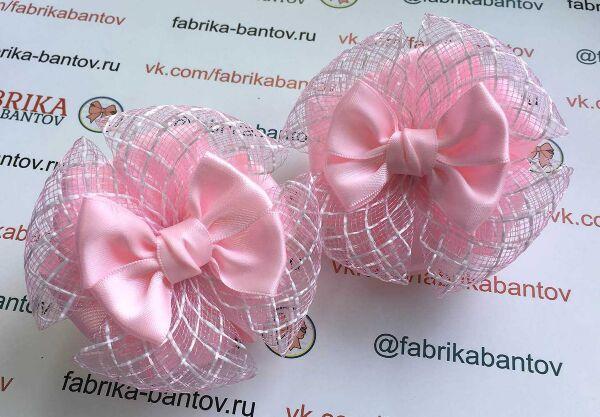 Бант для девочек Рафаэлло розовый