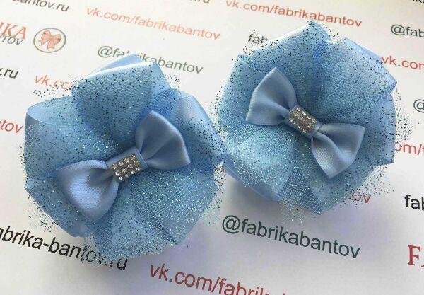 Бант для девочек Баноффи голубой