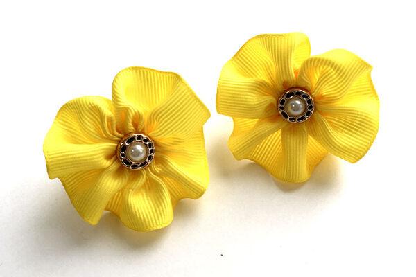 Детский бантик Акварель №41 желтый