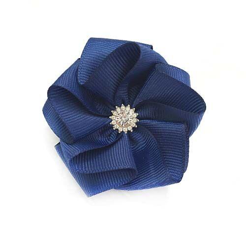 Бант для волос Звездочка темно-синий
