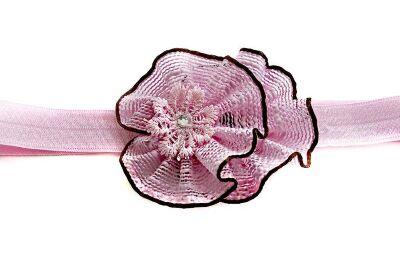 Повязка для волос Рустик розовый