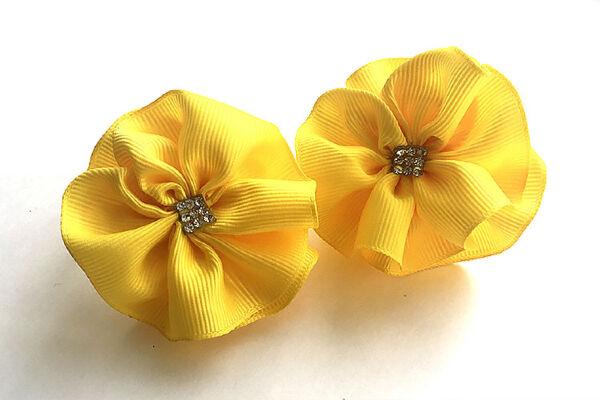 Бант для волос Вальс желтый
