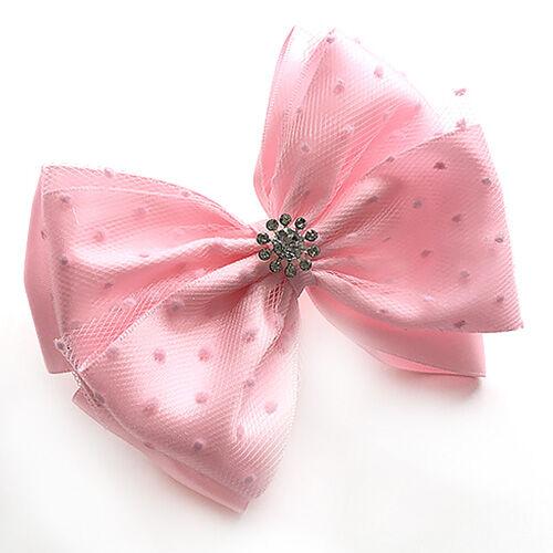 Красивый бант с фатином Милан розовый