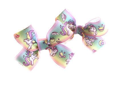 Детский бантик Мульти-пульти №7 лошадки с облаками