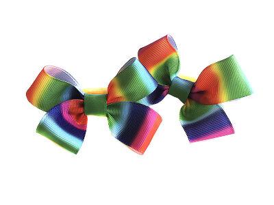 Детский бантик Мульти-пульти №9 в разноцветную полоску