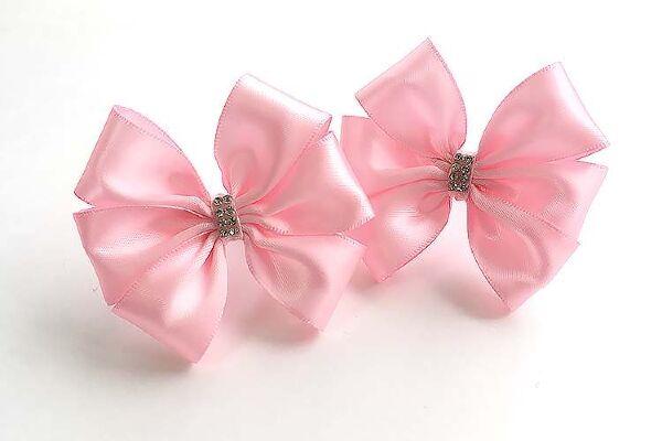 Детский бантик Ириска розовый